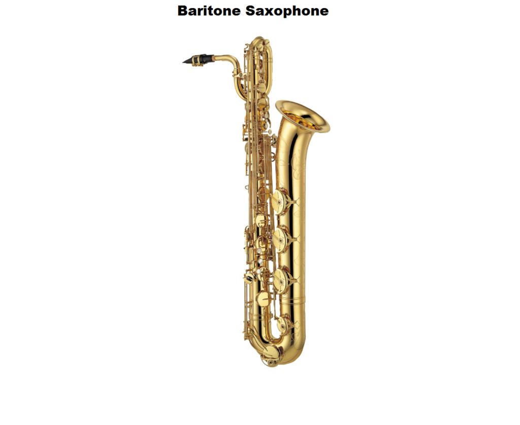 baritone saxophone, baritone, saxophone